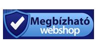 Megbízható webshop - adatait bizalmasan kezeljük.